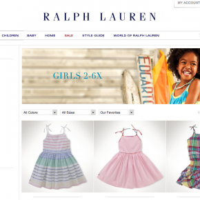 Polo Ralph Lauren - Girls Laydown Photography