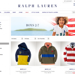 Polo Ralph Lauren - Boys Laydown Photography
