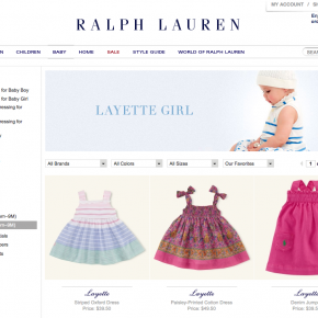 Polo Ralph Lauren - Girls Layette Laydown Photography